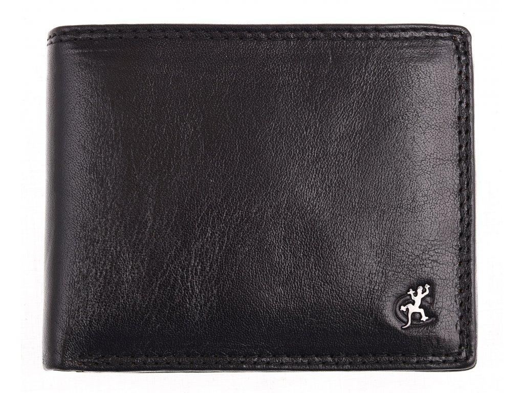 Pánská kožená peněženka Cosset 4471 Komodo černá hovězina
