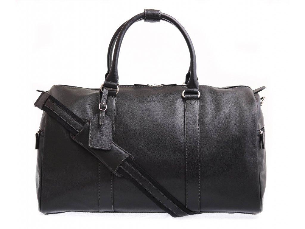Černá cestovní taška Hexagona 462546 pravá kůže