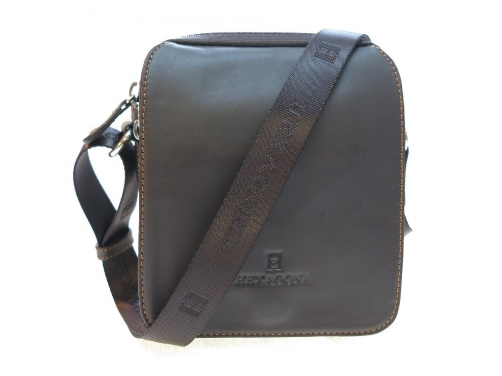 malá pánská crossbody taška Hexagona 299176 hnědá