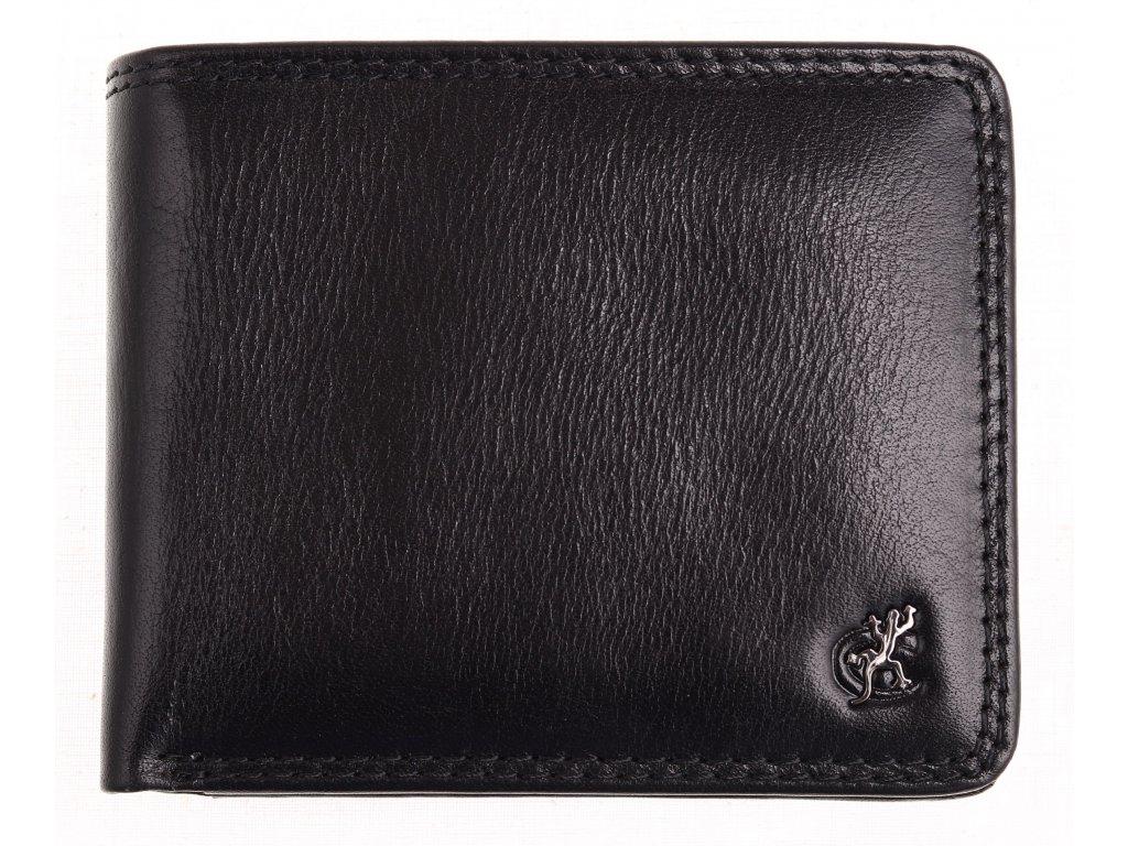 Pánská kožená peněženka Cosset 4405 Komodo černá