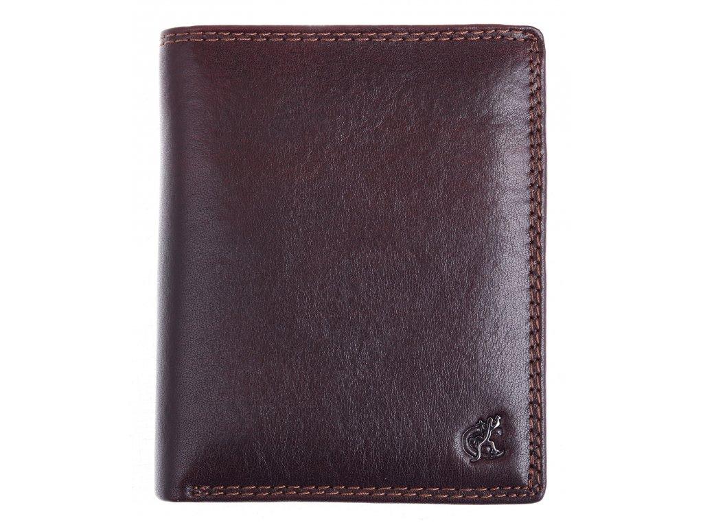 Pánská kožená peněženka Cosset 4402 Komodo hnědá