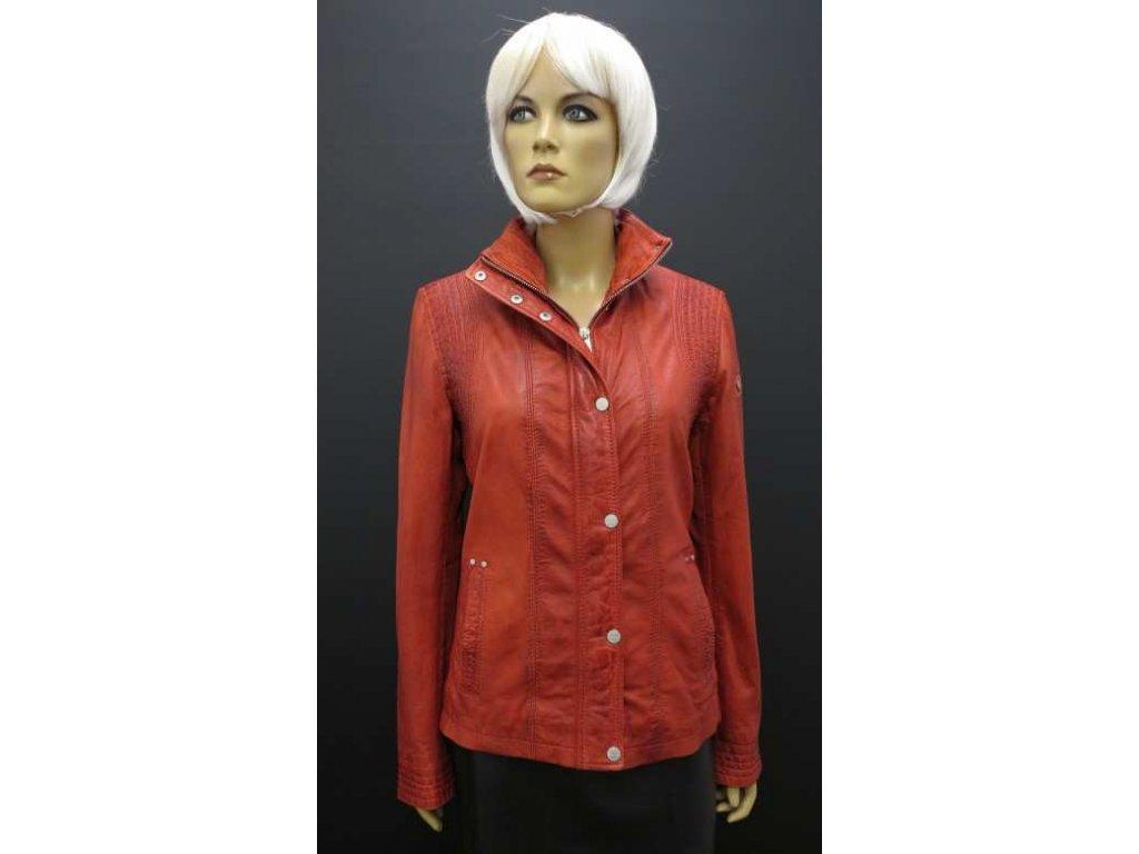 Deercraft kožená bunda Helene Red