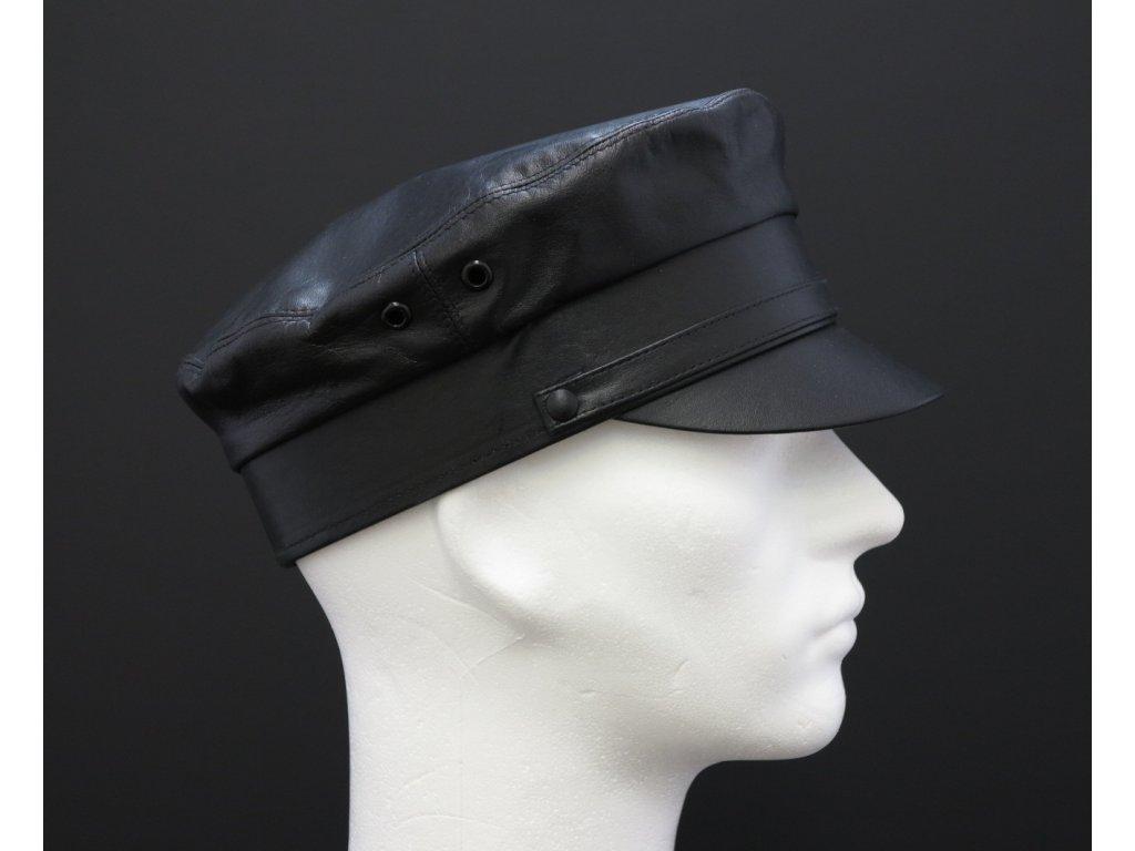 Kožená čepice masaryčka kapitánka brigadýrka MA1 černá - český výrobek ·  kožená kapitánská čepice - český výrobek ... 8822a70ace