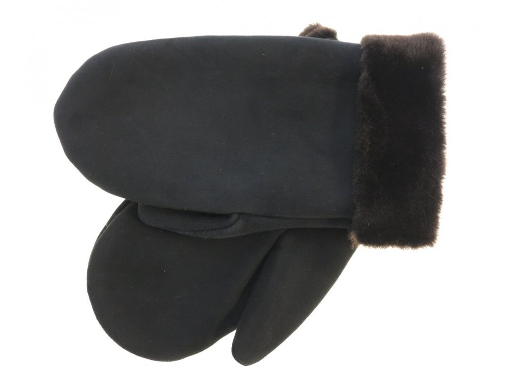 Pánské kožešinové palčáky černé
