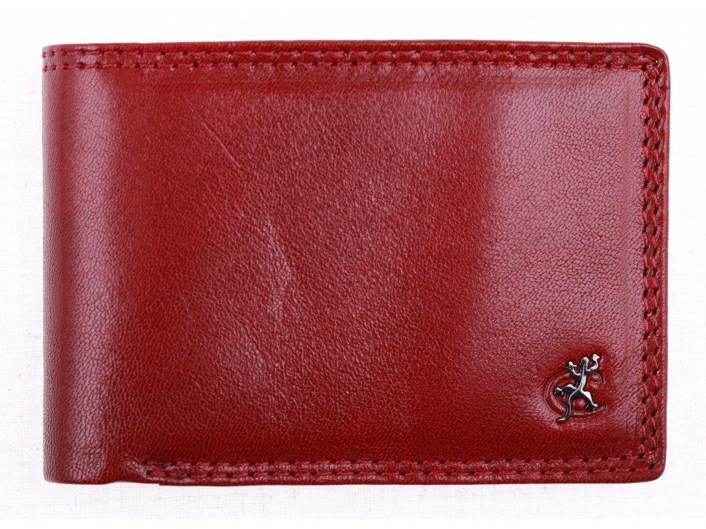 Dámské kožené pouzdro na karty Cosset Komod 4407 vínově červená