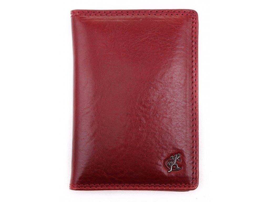 Kožená dokladovka Cosset 4426 Komodo tmavě červená