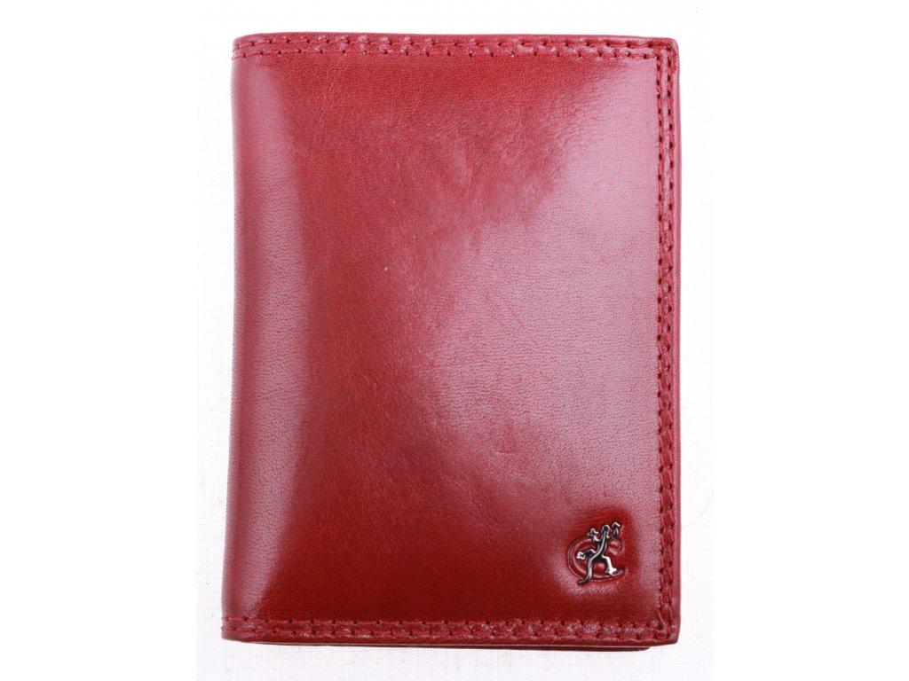 Kožená dokladovka Cosset 4424 Komodo červená