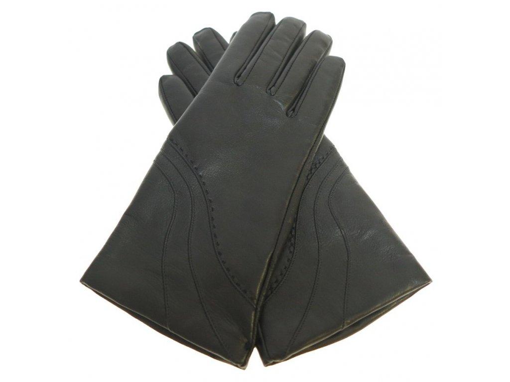 Dámské kožené rukavice 4406 černé - Špongr.cz eadddf8b04