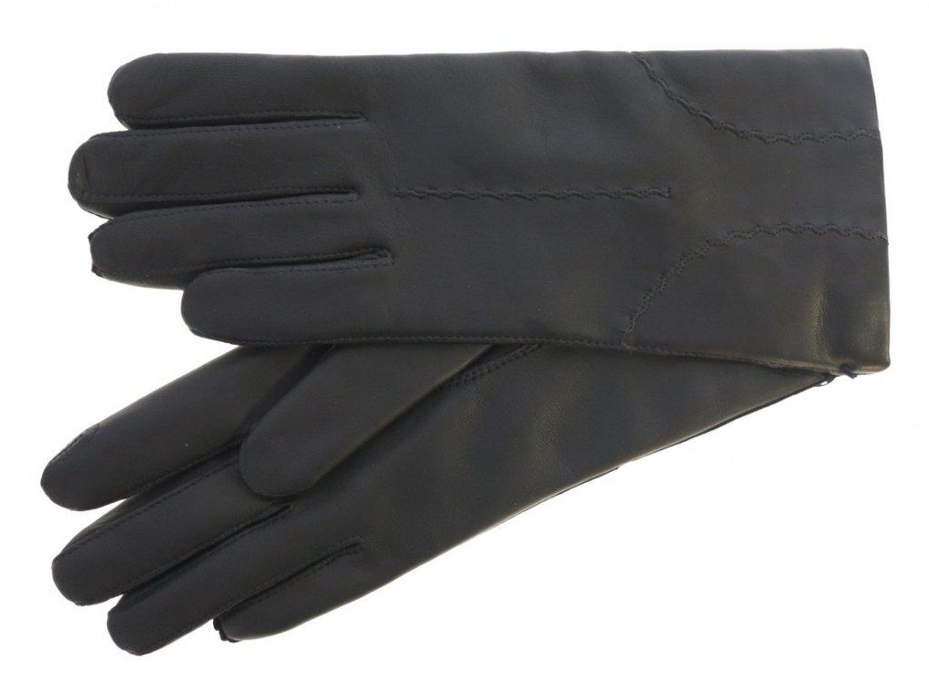 černé kožené rukavice české výroby