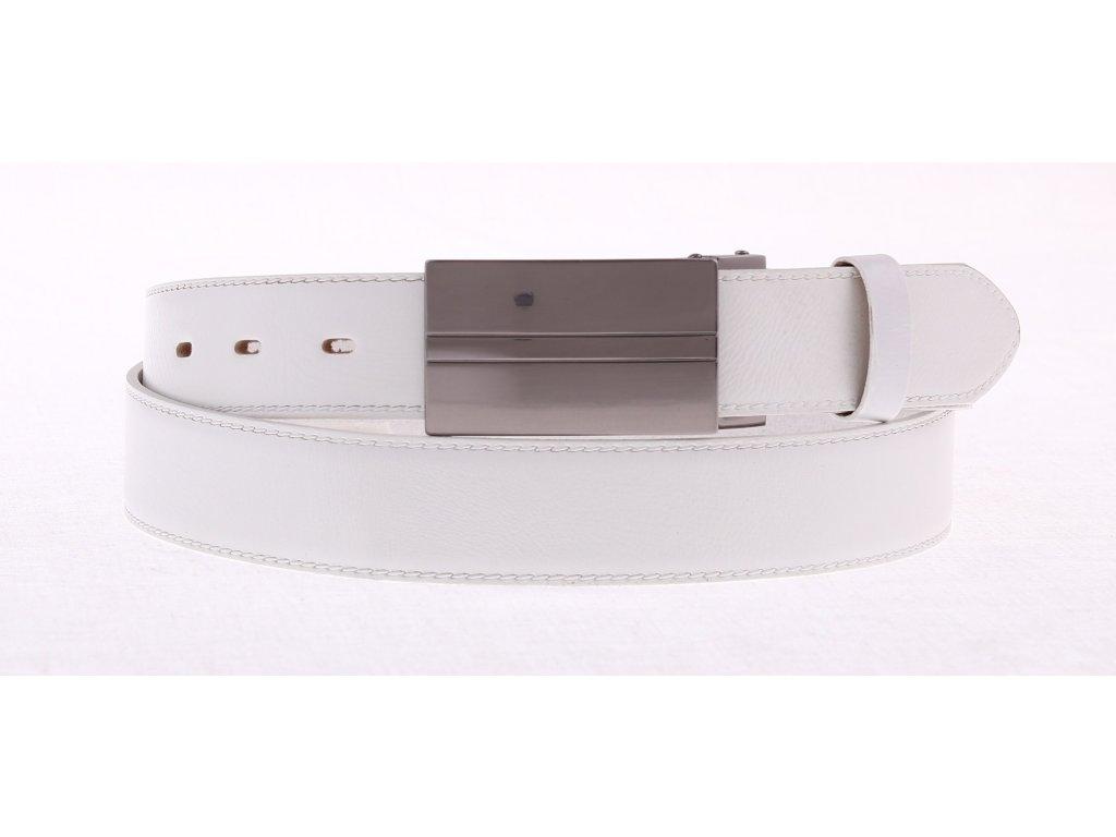 Pánský kožený opasek Penny Belts 3520 bílý společenský