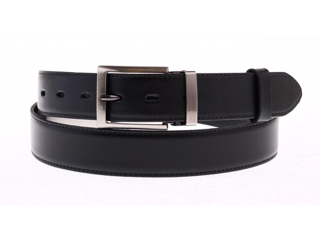 Pánský kožený opasek Penny Belts 3516 černý společenský