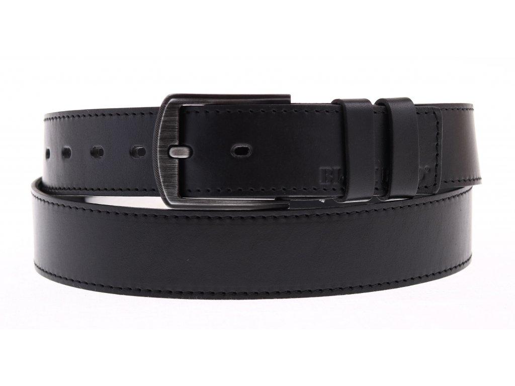 Dámský kožený opasek Black Hand 112-98 černý