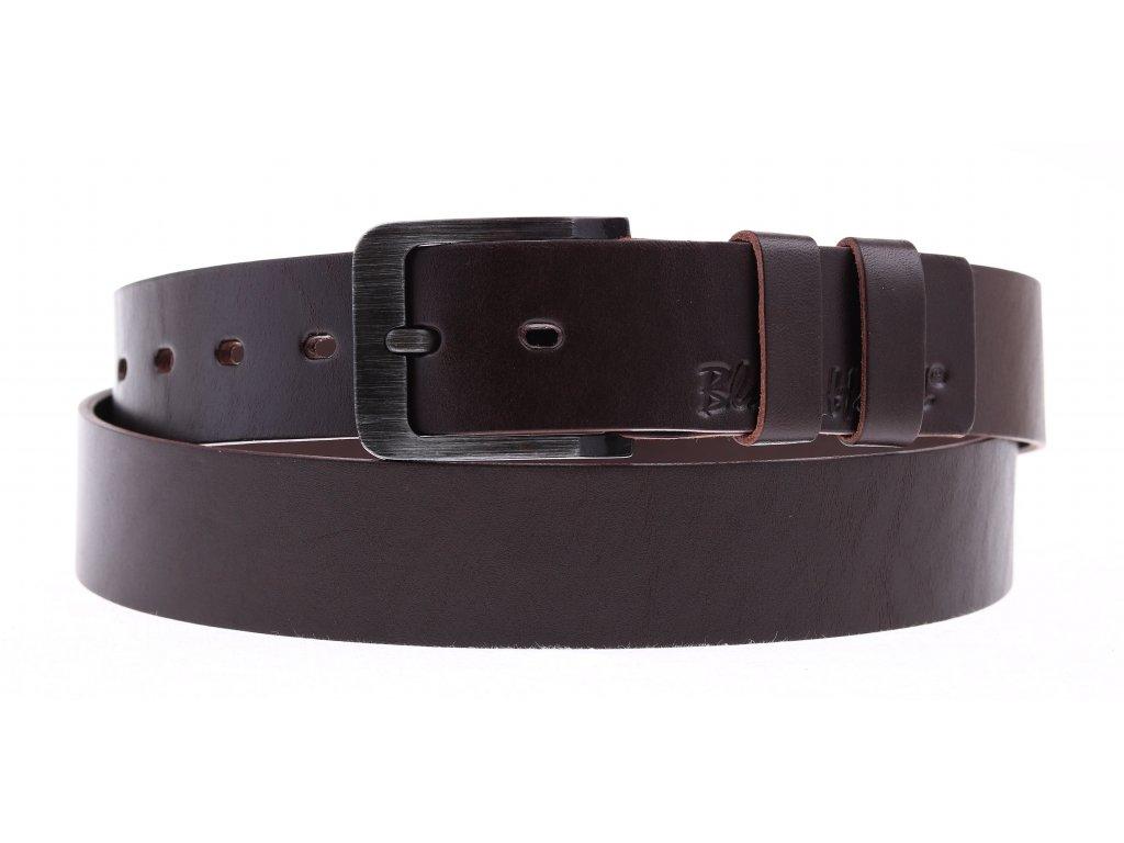 Dámský kožený opasek Black Hand 106-93 tmavě hnědý