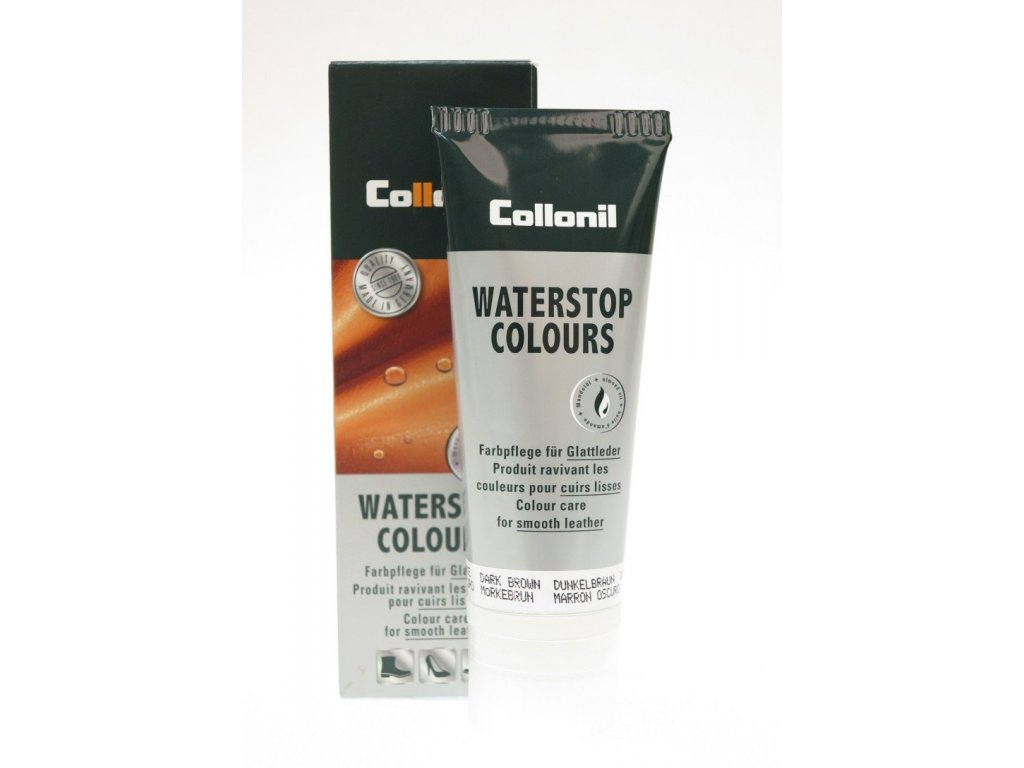 Collonil Waterstop 75 ml impregnační krém na boty - šedohnědý Smoke