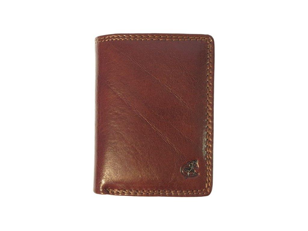 Kožené pouzdro na karty Cosset Komodo 4410 hnědé