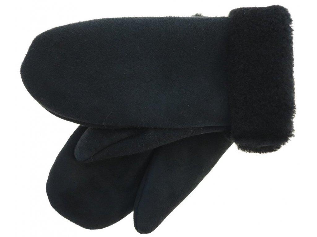 Dámské kožešinové palčáky černé
