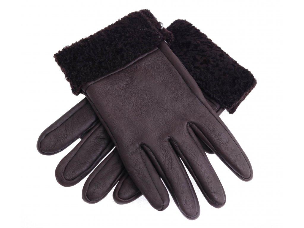 Kožešinové rukavice prstové z beránka