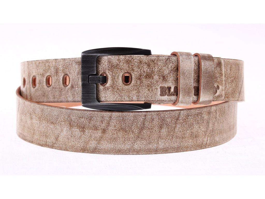 Pánský kožený opasek Black Hand 091-73 béžový s patinou