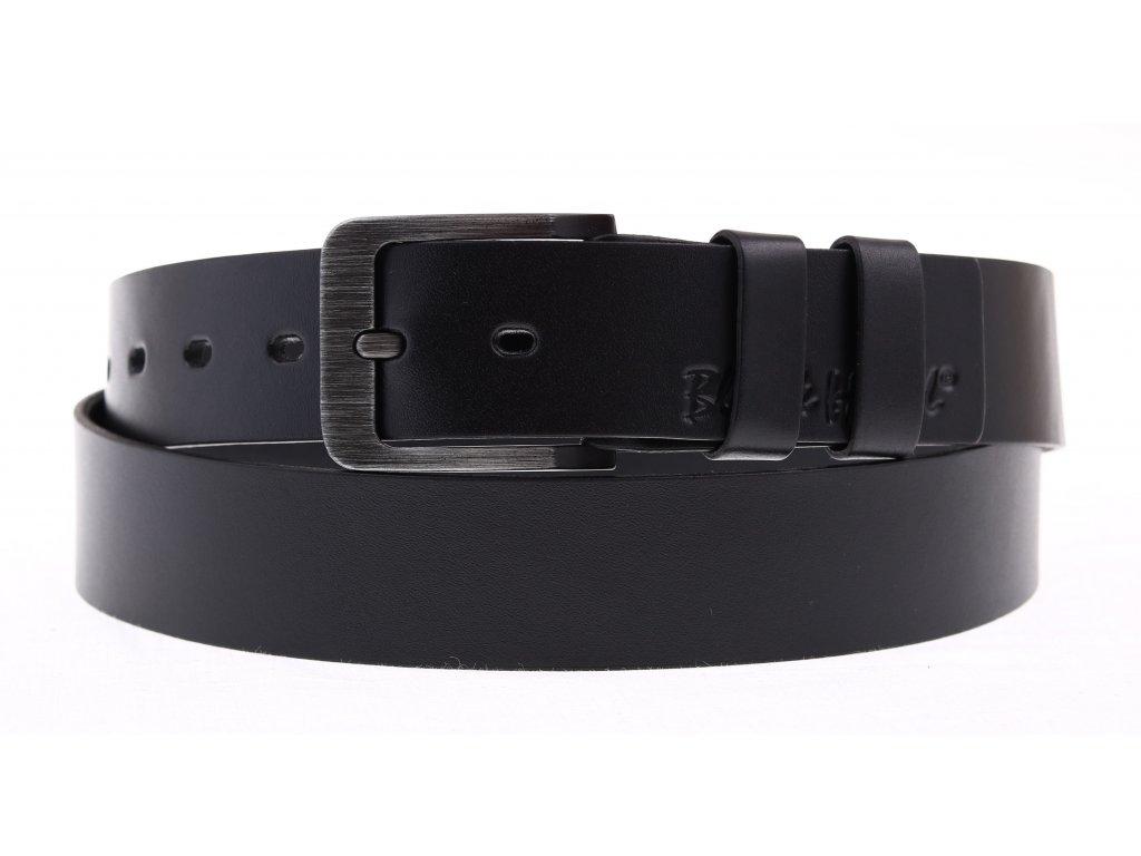 Dámský kožený opasek Black Hand 106-98 černá