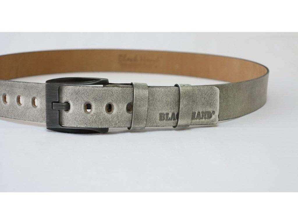 Pánský kožený opasek Black Hand 091-03 šedý s patinou