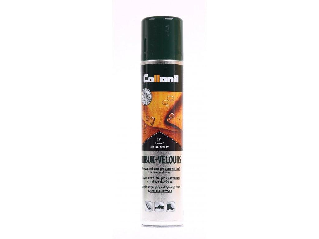 Collonil Nubuk + Velours černý impregnační sprej na dobarvení velurové a broušené kůže