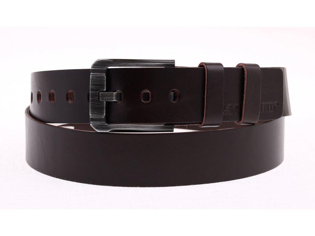 Pánský kožený opasek Black Hand 090-93 tmavě hnědý