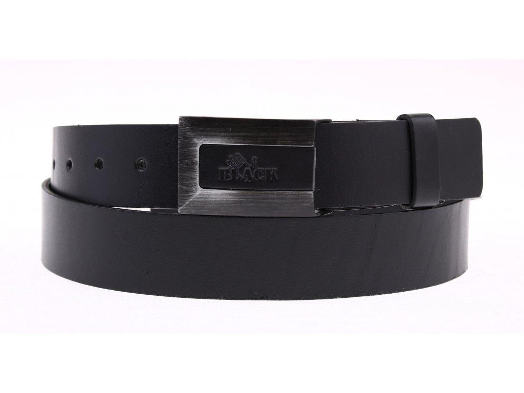 Pánský kožený opasek Black Hand 016-98 černý