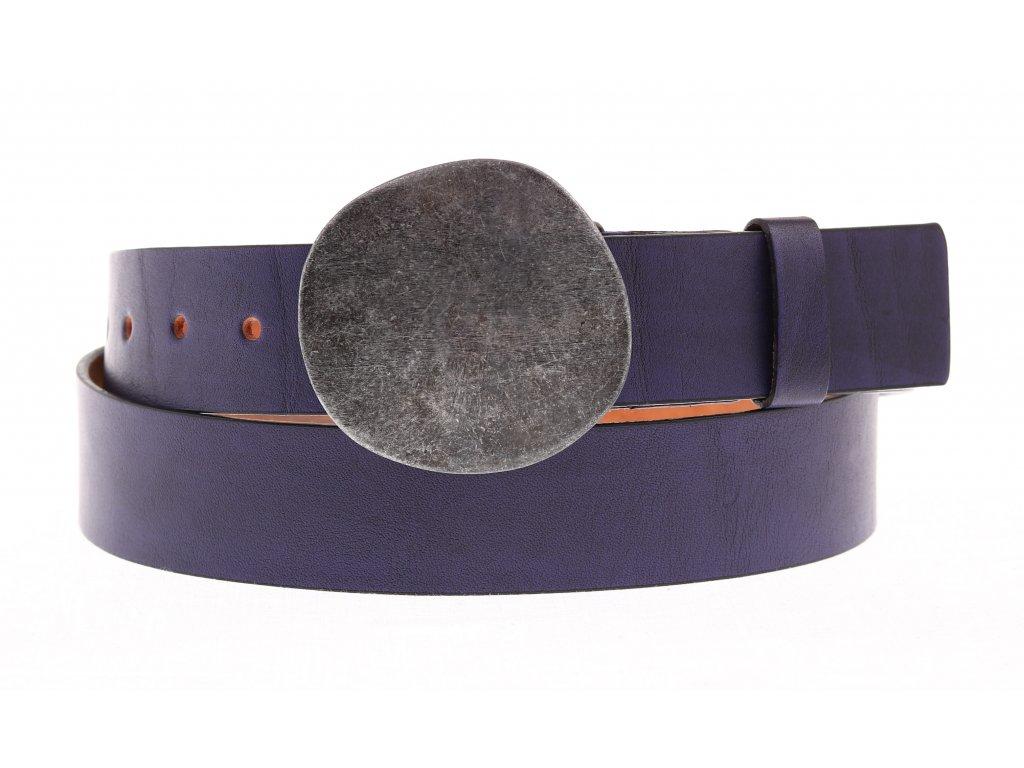 Dámský kožený opasek Black Hand 046-63 fialový