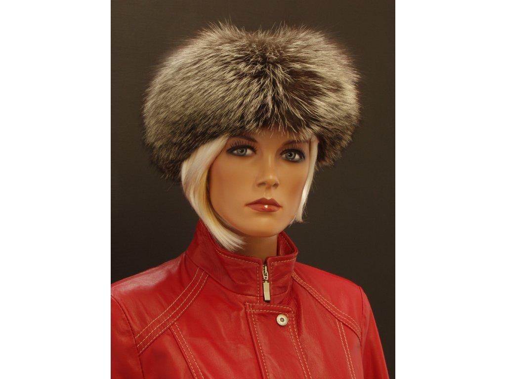 Kožešinová čepice ze stříbrné lišky - lodička LO2 - Špongr.cz c3117287e0