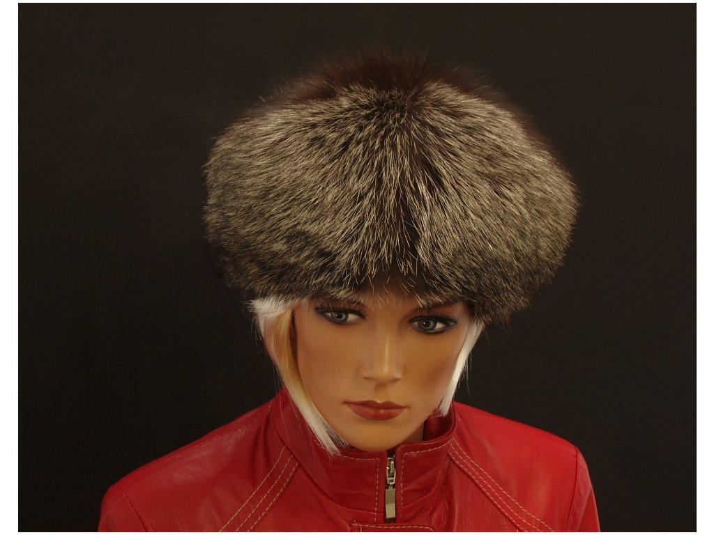 Kožešinová čepice ze stříbrné lišky kulatá SIL2 - Špongr.cz 0299f9e43d