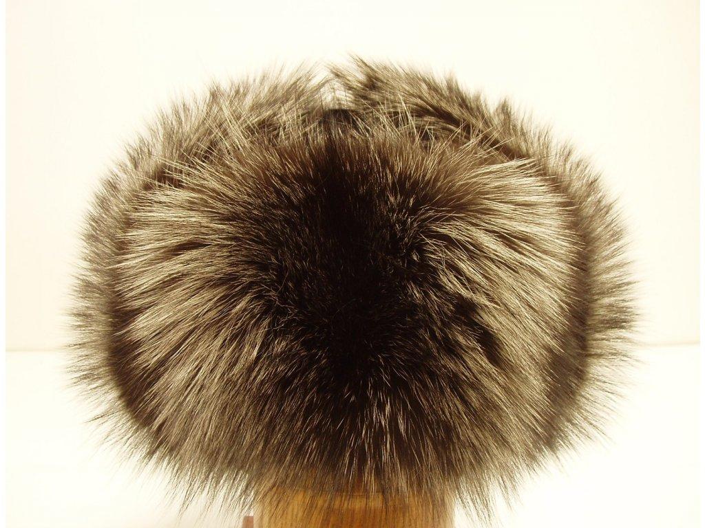 Kožešinová ušanka ze stříbrné lišky STU1 - kožešinové dýnko - Špongr.cz c4d463d186