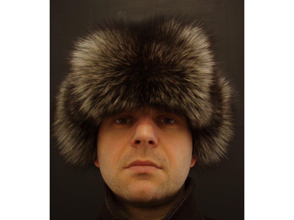 ... Kožešinová ušanka ze stříbrné lišky STU1 - kožešinové dýnko. Velikost.  Zvolte variantu 5e302730ee