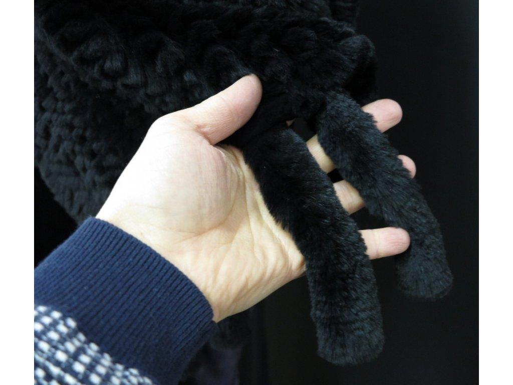 Maxi kožešinová šála z králíka rexe S48 černá - délka 185 cm - Špongr.cz 1f2ada83f7