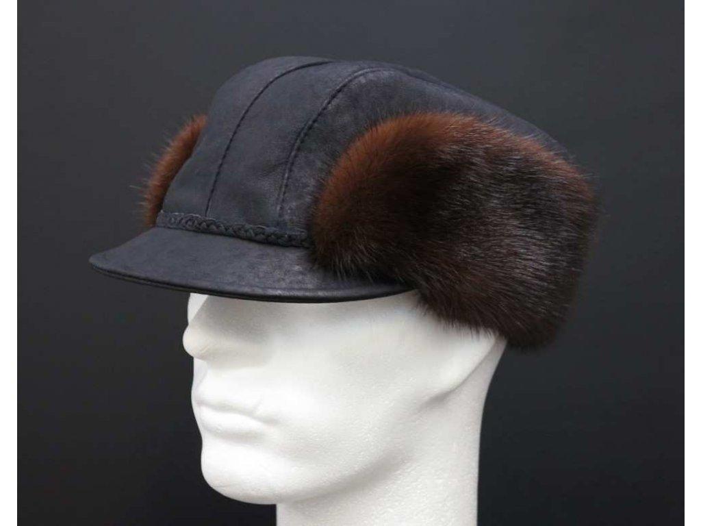 Černá myslivecká kožešinová čepice ceko44