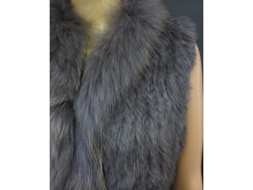 Kožešinová vesta z králíka KLARA šedá · Kožešinová vesta z králíka KLARA  šedá · Kožešinová šála ... 4de7028bab
