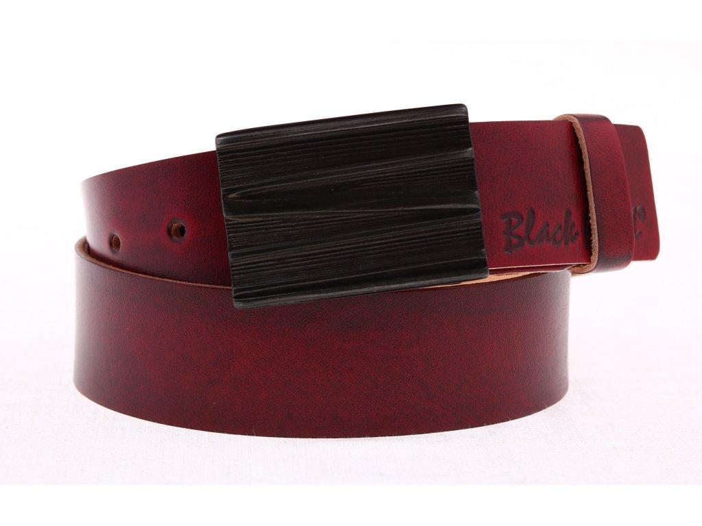 Dámský kožený opasek Black Hand 085-58 vínově červený