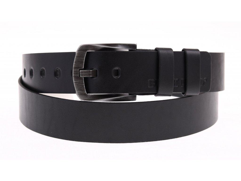 Pánský kožený pásek Black Hand 130-98 černý