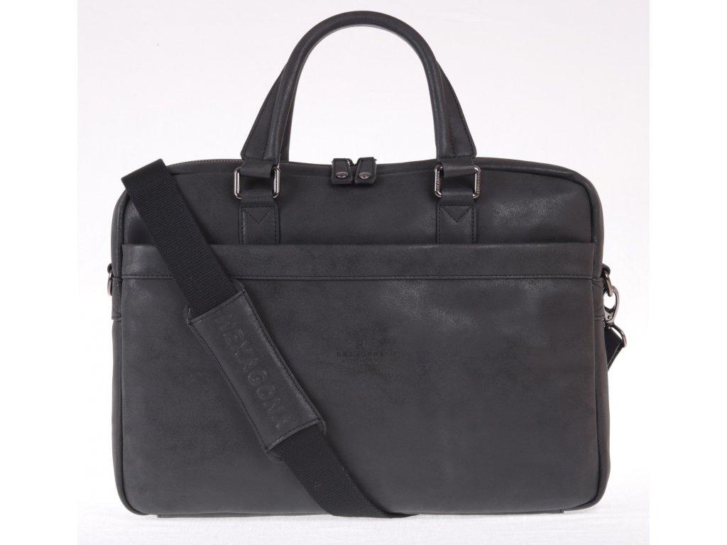 kvalitní černá pánská business taška s odepínacím popruhem přes rameno syntetická kůže