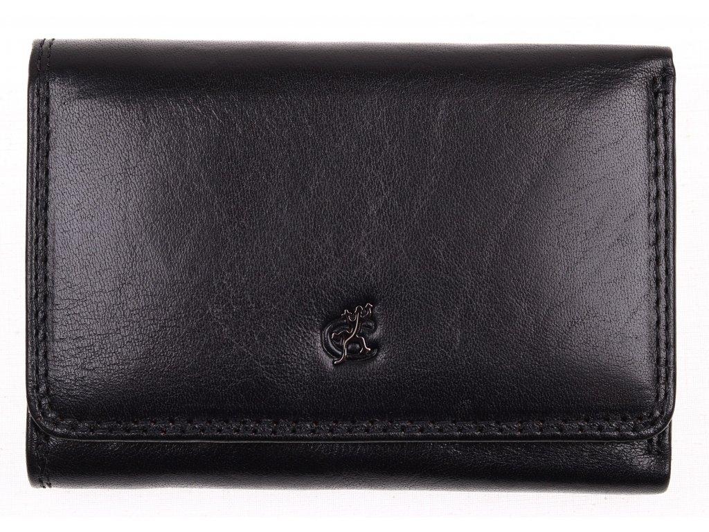 Černá kožená peněženka Cosset 4499 Komodo