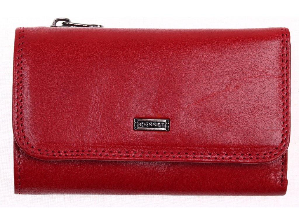 Kožená peněženka Cosset 4510 Red Flamengo červená