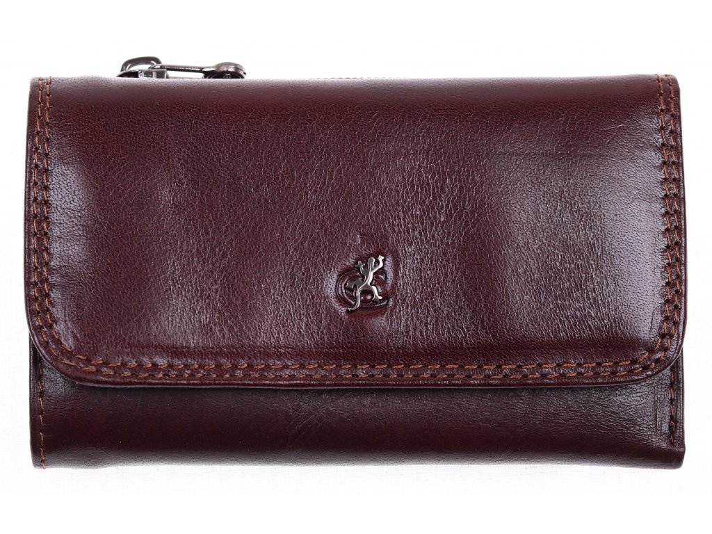 Kožená peněženka Cosset 4510 Komodo hnědá