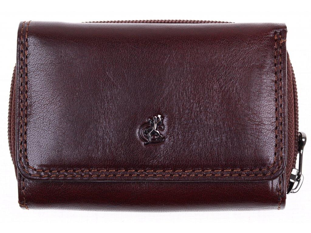 c21cb0c89d9 Menší dámská kožená peněženka Cosset 4511 Komodo hnědá - Špongr.cz