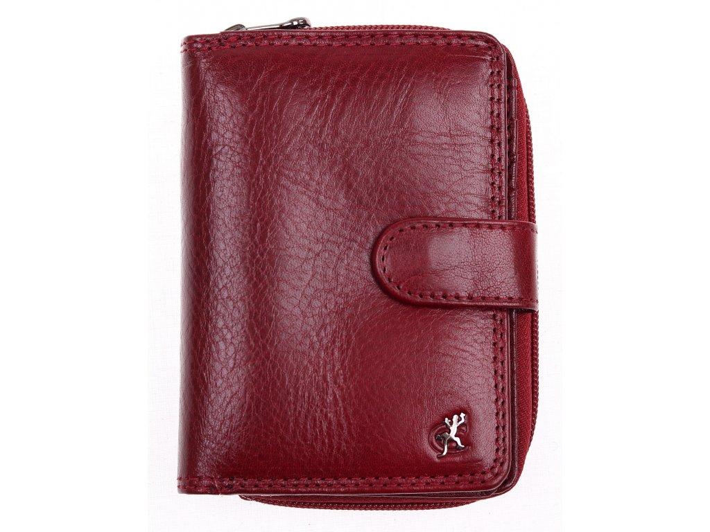 Dámská kožená peněženka Cosset 4512 Komodo bordó