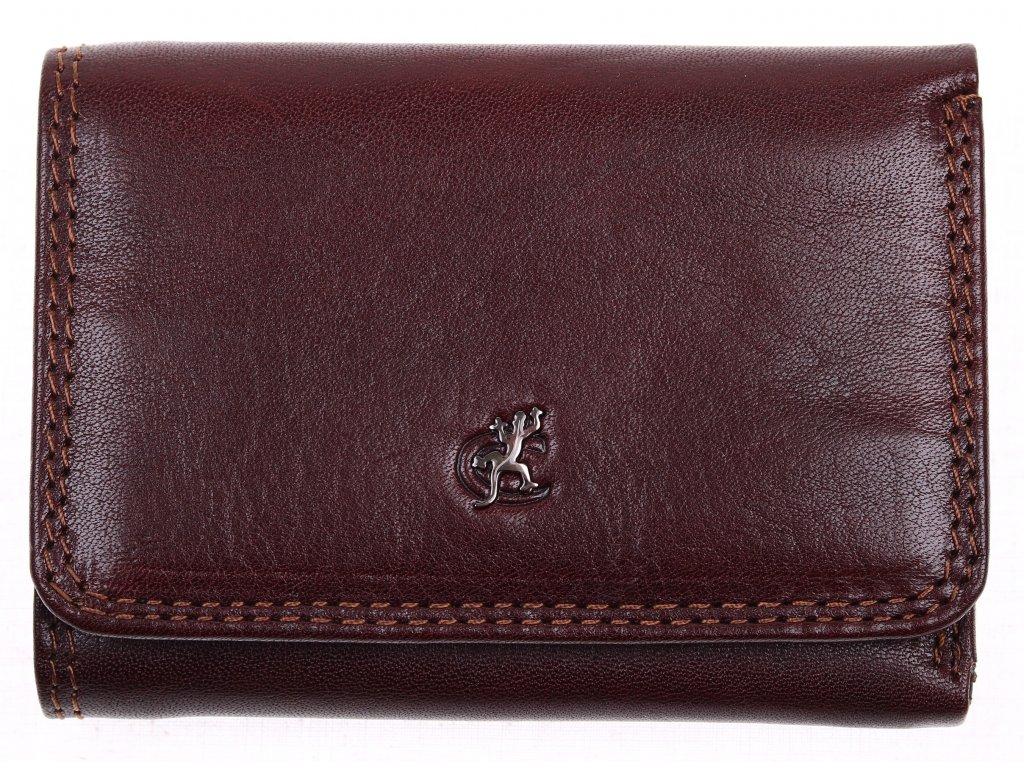 Malá dámská kožená peněženka Cosset 4509 Komodo hnědá