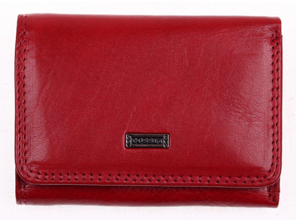 Malá dámská kožená peněženka Cosset 4509 Red Flamengo červená