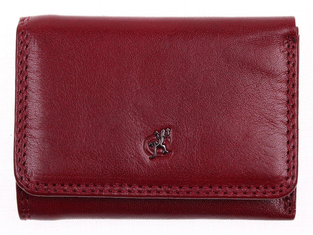 Malá dámská kožená peněženka Cosset 4509 Komodo vínová