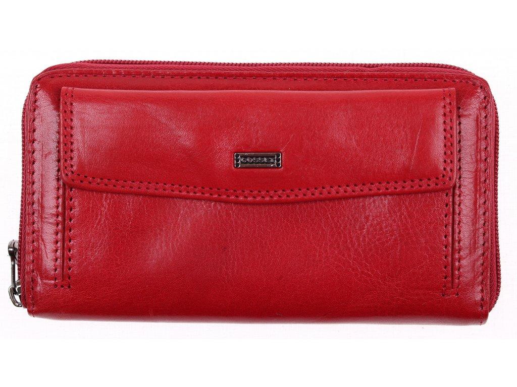 Dámská kožená peněženka penál Cosset 4491 Red Flamengo červená