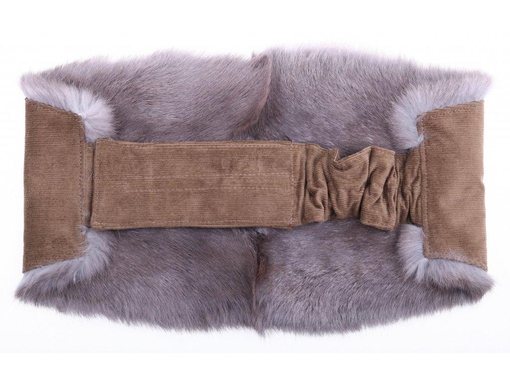 Ledvinový pás kožešinový LP40 velikost M králík