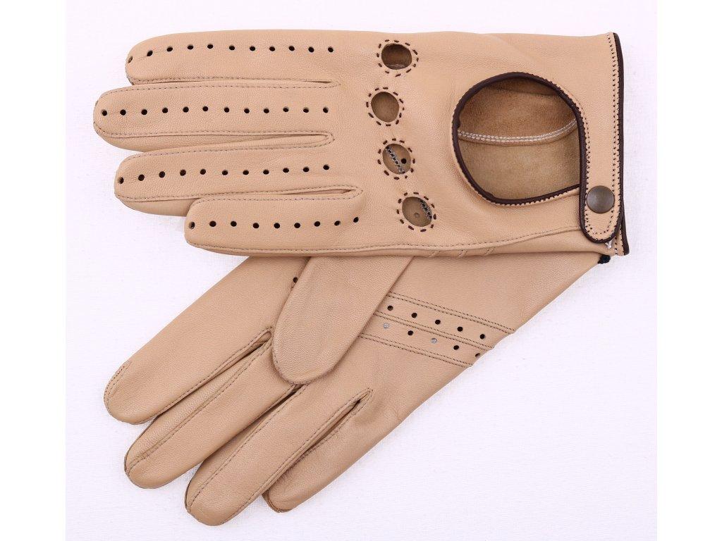 Dámské kožené řidičské rukavice 3428 béžové