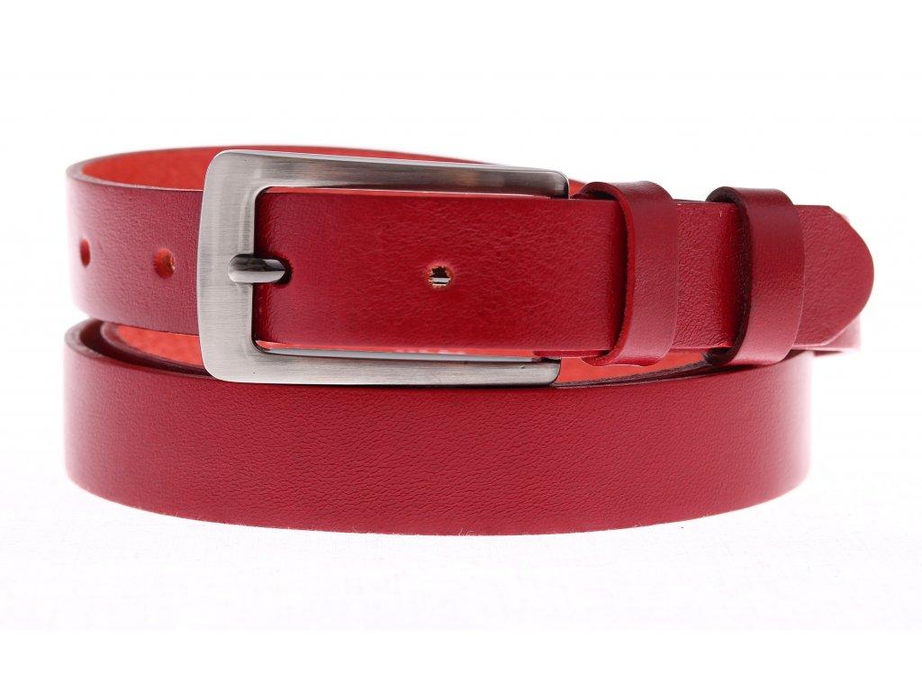 1e5c9fe98ae Dámský kožený opasek Penny Belts 25-176-93 červený. Česká výroba